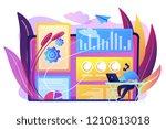 digital marketing strategist... | Shutterstock .eps vector #1210813018