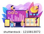 customer managers working with...   Shutterstock .eps vector #1210813072