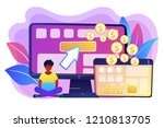 marketer and analyst deploys... | Shutterstock .eps vector #1210813705