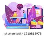 hr specialist having an... | Shutterstock .eps vector #1210813978