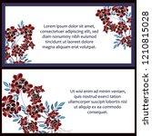 romantic wedding invitation... | Shutterstock .eps vector #1210815028