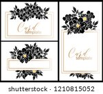 romantic wedding invitation... | Shutterstock .eps vector #1210815052