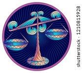 cancer zodiac sign ... | Shutterstock .eps vector #1210815928