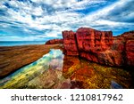 tura red rocks  situated at... | Shutterstock . vector #1210817962
