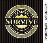 survive golden badge | Shutterstock .eps vector #1210828675