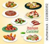 italian cuisine gourmet food of ... | Shutterstock .eps vector #1210830352