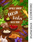 herb and spice vector... | Shutterstock .eps vector #1210830382