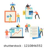 people who manage assets... | Shutterstock .eps vector #1210846552
