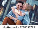 summer holidays  technology ...   Shutterstock . vector #1210851775