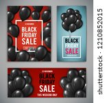 set of banners for black friday ... | Shutterstock .eps vector #1210852015