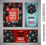 set of banners for black friday ... | Shutterstock .eps vector #1210852015