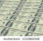 hundred dollar banknote... | Shutterstock .eps vector #1210860268