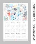 calendar 2019. printable... | Shutterstock .eps vector #1210862302