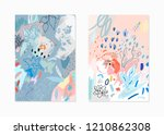 creative universal floral... | Shutterstock .eps vector #1210862308