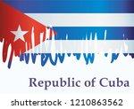 illustrative editorial flag of... | Shutterstock .eps vector #1210863562