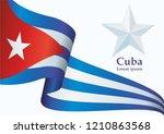 illustrative editorial flag of... | Shutterstock .eps vector #1210863568