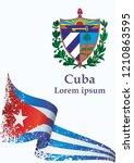 illustrative editorial flag of... | Shutterstock .eps vector #1210863595