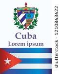 illustrative editorial flag of... | Shutterstock .eps vector #1210863622