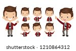 set of strong characters | Shutterstock .eps vector #1210864312