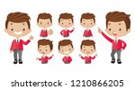 set of strong characters | Shutterstock .eps vector #1210866205