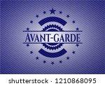 avant garde badge with jean...   Shutterstock .eps vector #1210868095