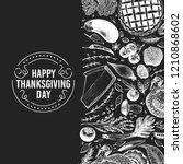 happy thanksgiving day design... | Shutterstock .eps vector #1210868602