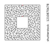 black abstract square maze with ...   Shutterstock .eps vector #1210870678