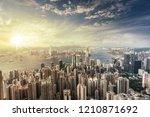 the hongkong city skyline | Shutterstock . vector #1210871692