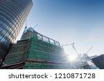 construction sites in modern... | Shutterstock . vector #1210871728