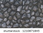 seamless rough rustic cobbled... | Shutterstock . vector #1210871845
