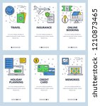 vector set of mobile app... | Shutterstock .eps vector #1210873465