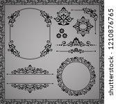vintage set. floral elements... | Shutterstock .eps vector #1210876765