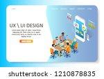 ux or ui design landing page... | Shutterstock .eps vector #1210878835