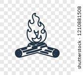 bonfire concept vector linear... | Shutterstock .eps vector #1210881508