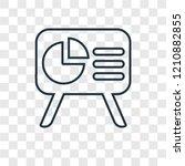 panel concept vector linear... | Shutterstock .eps vector #1210882855
