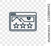 rating concept vector linear... | Shutterstock .eps vector #1210884442
