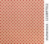 red polka dot pattern on craft... | Shutterstock . vector #1210897012