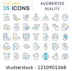 set of vector line icons of... | Shutterstock .eps vector #1210901368