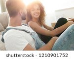 close up of a happy married... | Shutterstock . vector #1210901752