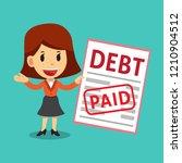 vector cartoon businesswoman... | Shutterstock .eps vector #1210904512