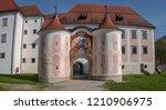 cistercian monastery... | Shutterstock . vector #1210906975