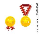 champion medal   golden awards... | Shutterstock .eps vector #1210909042