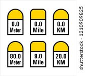 milestone icon  road side... | Shutterstock .eps vector #1210909825
