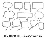 vector bubbles speech doodle... | Shutterstock .eps vector #1210911412