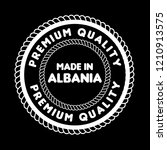 made in albania badge. vintage... | Shutterstock .eps vector #1210913575