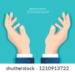 free hands. hand holding... | Shutterstock .eps vector #1210913722