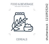 cereals icon. high quality line ... | Shutterstock .eps vector #1210925242
