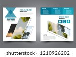 square flyer template. simple... | Shutterstock .eps vector #1210926202