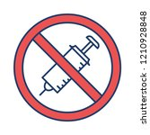 banned   not allowed   no... | Shutterstock .eps vector #1210928848