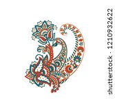 paisley isolated pattern.... | Shutterstock .eps vector #1210932622
